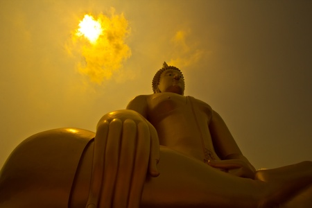 Big buddha statue at Wat muang, Thailand  Stock Photo - 13538168