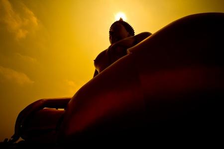 Big buddha statue at Wat muang, Thailand  Stock Photo - 13537049