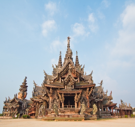 Sanctuary of Truth temple in thailand Stock Photo - 13688491