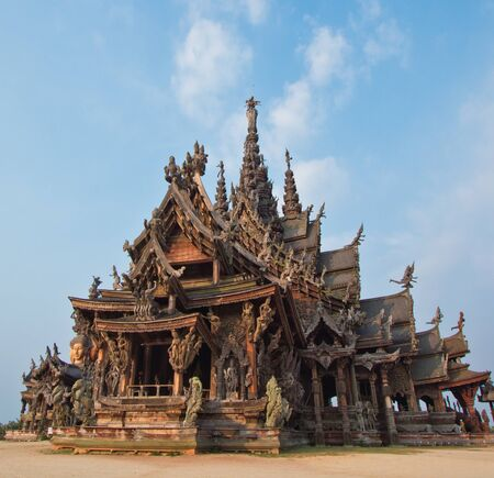 Sanctuary of Truth temple in thailand Stock Photo - 13688385