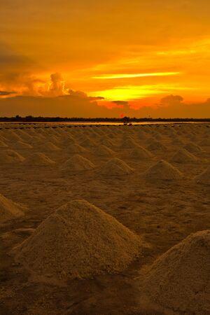 sunset at salt pan  photo