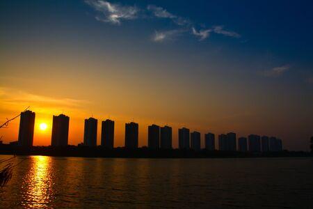 city sunset Stock Photo - 13695701