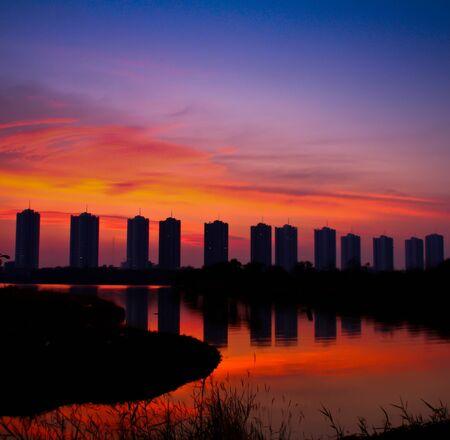 city sunset Stock Photo - 13695454