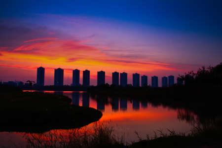 city sunset photo