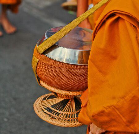 Walk Clergy in bangkok thailand photo
