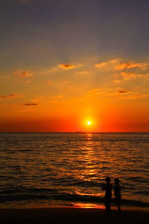jet ski: coucher de soleil Jet Ski vue
