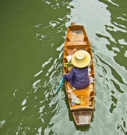 Damnoen Saduak Floating Market near Bangkok in Thailand  photo