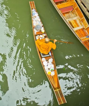 Damnoen Saduak Floating Market near Bangkok in Thailand  photo