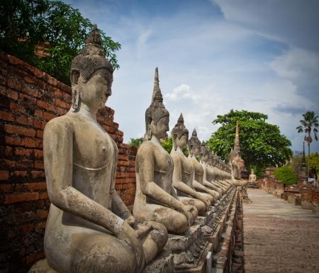 ayuthaya: Buddha old in ayuthaya thailand