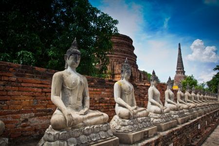 Buddha old in ayuthaya thailand  photo
