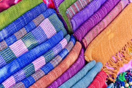 Hand-woven fabrics  photo
