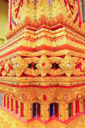 Thai art in temple photo