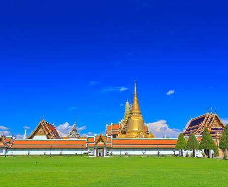 Wat Phra Kaew ,Emerald Buddha temple in Bangkok  photo