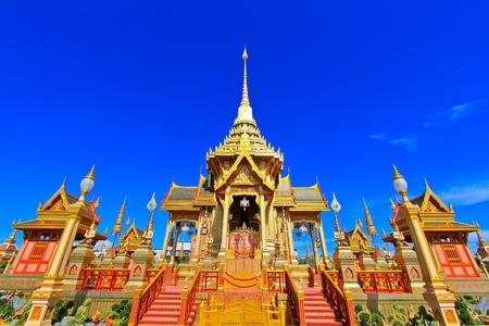The beautiful meru in royal cremation ceremony at Sa Nam Luang, Bangkok, Thailand  photo