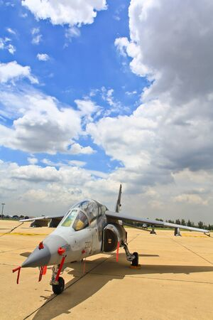 forefathers: BANGKOK, THAILAND - JULY 02 Alpha Jet on display at The Centennial of RTAF Forefathers  Aviation on JUNE 30, 2012, Don Muang Airport, Bangkok, Thailand  Editorial