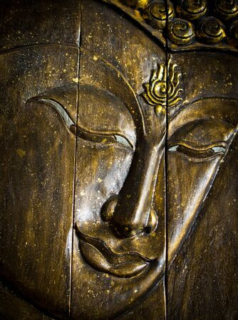 ancient tradition: face buddha Stock Photo