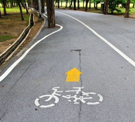 pedestrian and bicycle path Stock Photo - 15188003