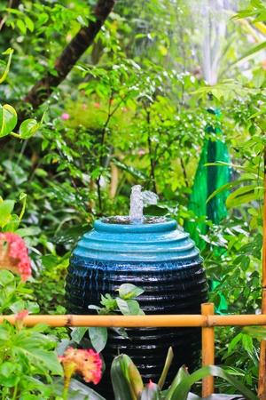 Fountain In the garden photo