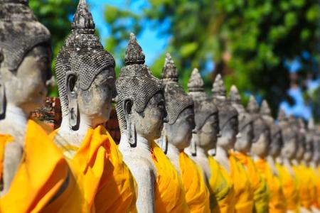 ayuthaya: old buddha Temple Wat Yai Chai Mongkhon of Ayuthaya Province Thailand