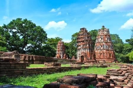 angkor wat: old Temple wat phramahathat of Ayuthaya Province Thailand