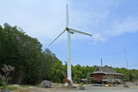 wind force wheel: Wind turbine in thailand