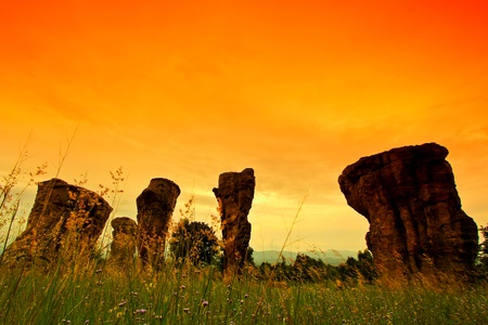 hin: Mor Hin Khao, Stonehenge of Thailand in Chaiyaphum Province thailand