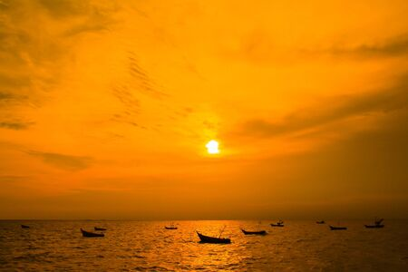 sunset view landscape sea in thailand photo