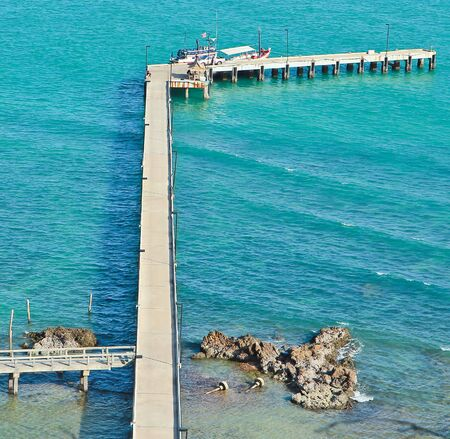 Bridge in the sea  photo