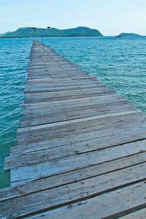 Wood bridge on the sea Stock Photo - 14885330