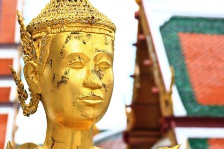 Kinnara at Wat Phra Kaew bangkok thailand photo