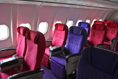 Сиденья кабины самолета