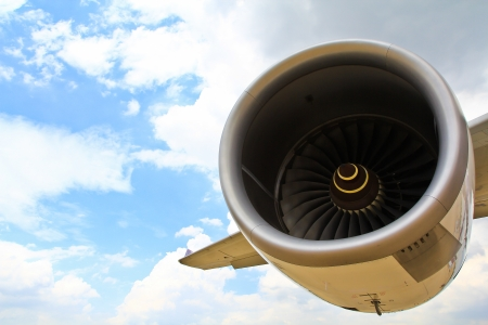 Operating an aircraft jet engine in Airport  Stock Photo