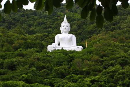 Mountain Buddha in forest thailand  photo