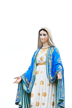 virgin women: VIrgin Mary Statue in front of the cathedral of the immaculate conception Stock Photo
