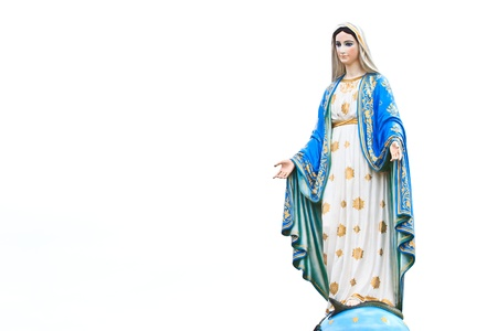 VIrgin Mary Statue in front of the cathedral of the immaculate conception Stock Photo