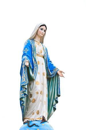 Maagd Maria Standbeeld voor de kathedraal van de Onbevlekte Ontvangenis Stockfoto