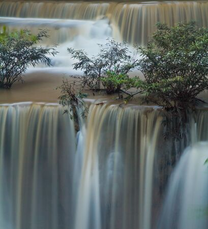 waterscape: Waterfall in the forest Huay mae Kamin waterfall asia thailand