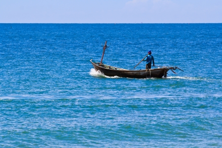 fishing boat on the sea thailand  photo