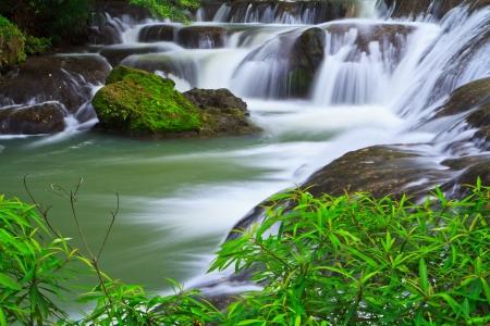 Водопад в лесу национального парка Таиланда Фото со стока