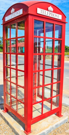 Red telephone box  photo