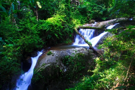 waterfall in the Forest National park thailand Stock Photo - 16417219