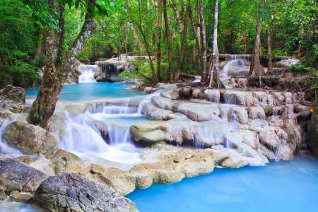 Waterfall beautiful asia thailand  免版税图像
