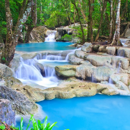 Waterfall beautiful asia thailand Stock Photo - 16929385