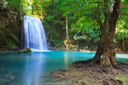 Waterfall beautiful asia thailand  Stock Photo
