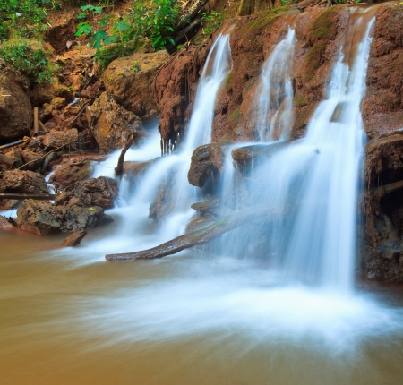 Waterfall beautiful asia Thailand  Stock Photo - 17144095