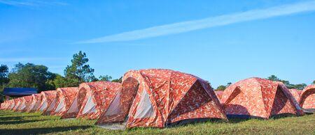 Campsite on phu kradung, Loei Province Thailand  photo
