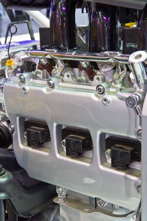 New engine of a modern car  photo