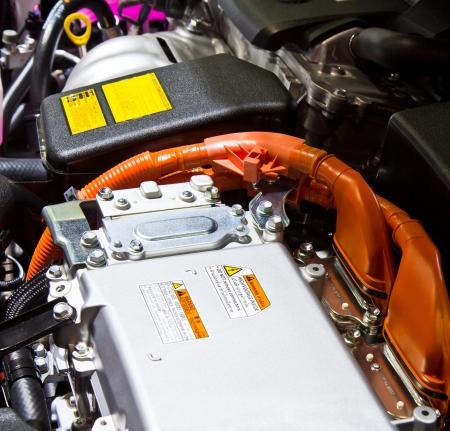 Battery and hybrid Engine  Stock Photo