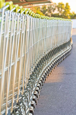 Shopping carts in a row Stock Photo - 18279519