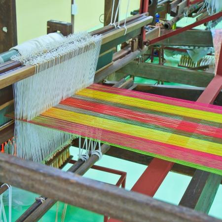 Machine woven silk Old-style thailand photo